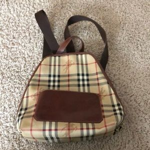 Authentic Burberry backpack style purse.